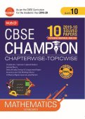 10 Years CBSE Champion Chapterwise-Topicwise Mathematics-Class- 10