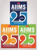 25 Years AIIMS Chapterwise Solutions (Phy, Chem and Bio) Combo
