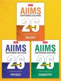 26 Years AIIMS Chapterwise Solutions (Phy, Chem and Bio) Combo