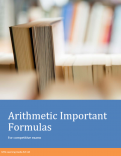 Arithmetic Important Formula Book