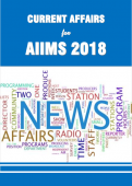Current Affairs 2018 for AIIMS